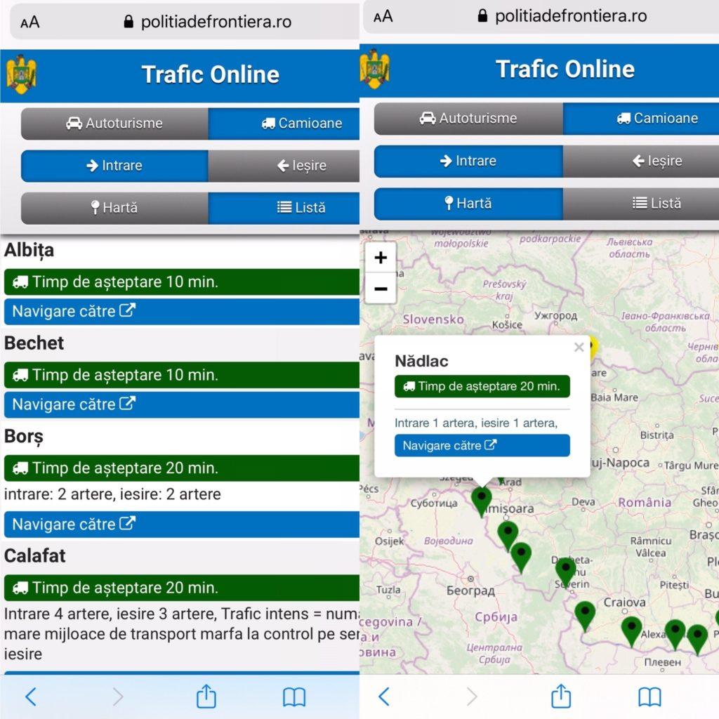 Aplicatia TraficOnline a Politiei de Frontiera