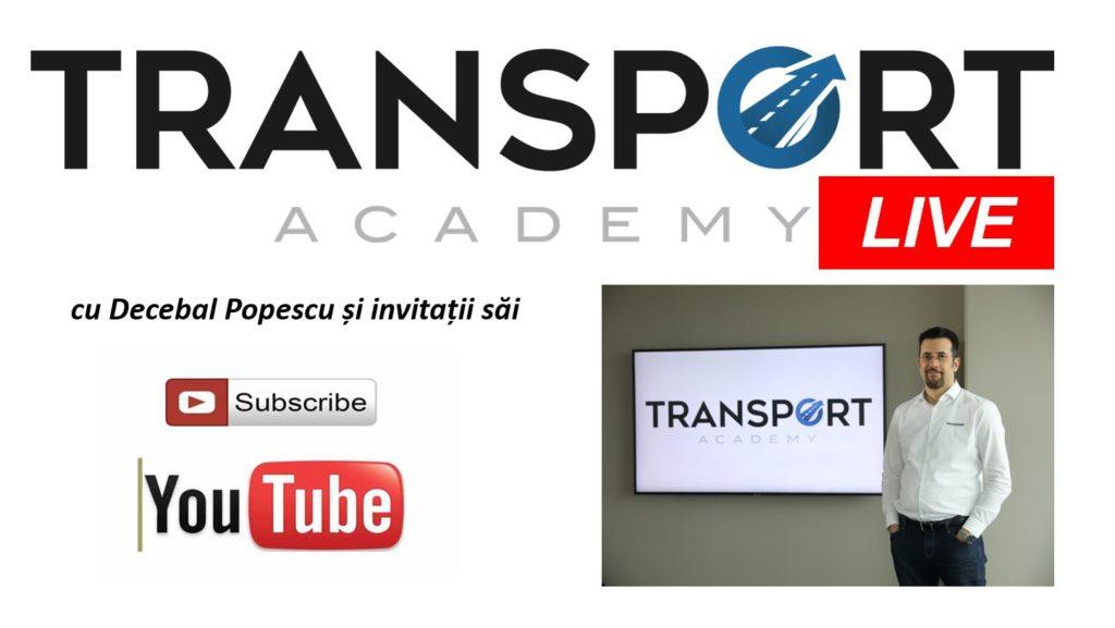 """Emisiunea Transport Academy LIVE, moderată de Decebal Popescu - săptămânal pe canalul de Youtube """"Transport Academy"""""""